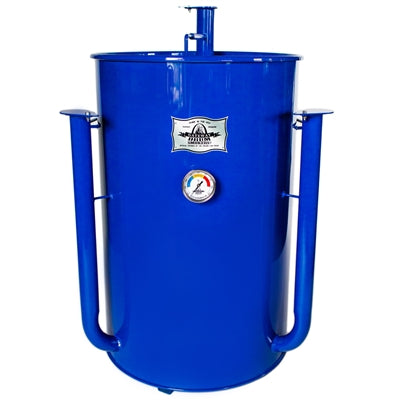 GATEWAY DRUM SMOKER 55 ROYAL BLUE WITH LOGO PLATE