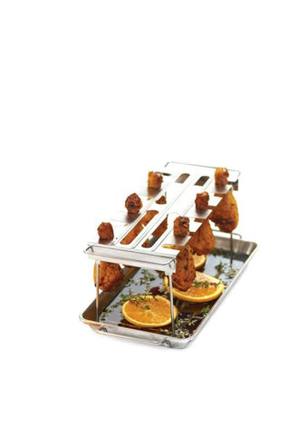 Broil King Wing Rack (stainless) - BBQing.com