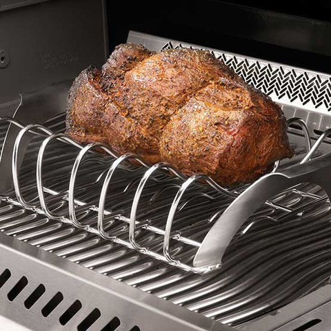 PRO Stainless Steel Rib / Roast Rack - BBQing.com