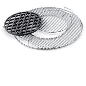 "Weber Cooking Grill Charcoal System Sear Grate & Grill (22.5"" Kettle) - BBQing.com"