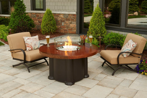 Outdoor GreatRoom Artisan Colonial Fire Pit Table - BBQing.com