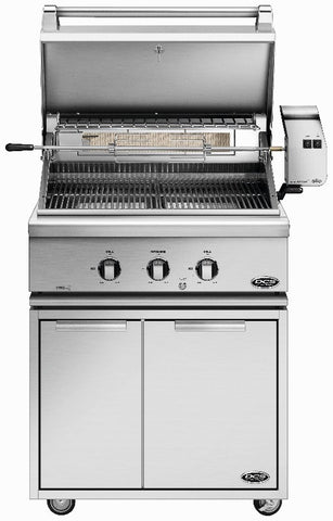 "DCS 30""  GRILL WITH ROTISSERIE AND 30"" CAD CART - BBQing.com - 1"