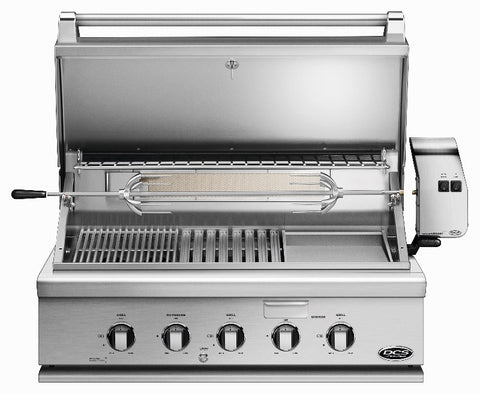 "DCS 36""  GRILL WITH ROTISSERIE, GRIDDLE AND HYBRID IR BURNER - BBQing.com - 1"