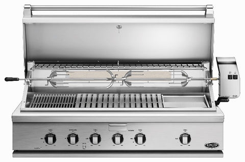 "DCS 48"" GRILL WITH ROTISSERIE, GRIDDLE AND HYBRID IR BURNER - BBQing.com - 1"
