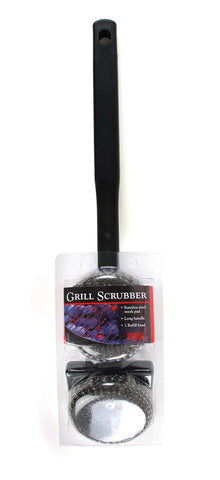 Charcoal Companion Single Head Scrubber Grill Brush, CC4006 - BBQing.com