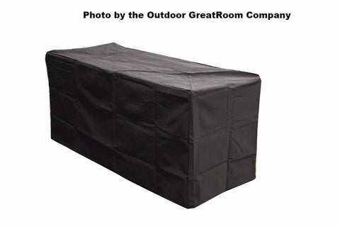 Outdoor GreatRoom Linear Vinyl Cover for Key Largo Fire Pit w/Super Cast Top & Artisan Fire Pit Table - BBQing.com