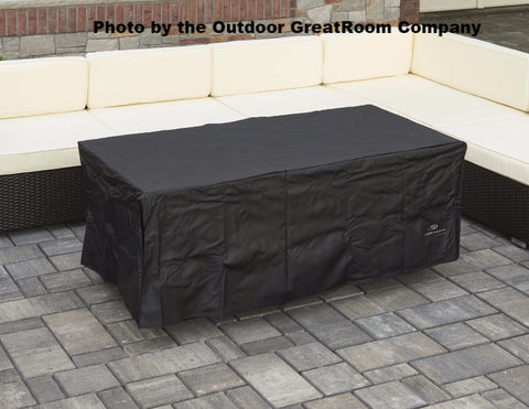 Outdoor GreatRoom Linear Vinyl Cover for Boardwalk Fire Pit Table - BBQing.com