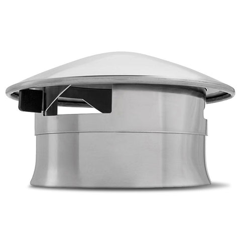 Kamado Joe Chimney Cap Damper - Stainless - BBQing.com - 1
