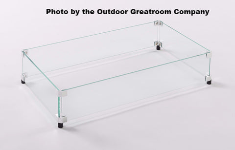 Outdoor GreatRoom Glass Guards for Rectangular 1224 Burners - BBQing.com