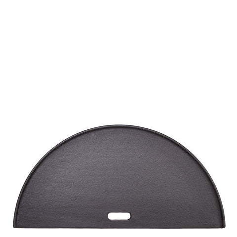 KAMADO JOE-CLASSIC JOE HALF MOON CAST IRON REVERSIBLE GRIDDLE - BBQing.com