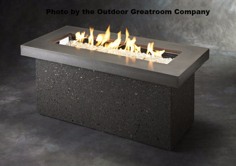 Outdoor GreatRoom Key Largo Fire Pit with Super Cast Top in Grey or Polished Brown - BBQing.com - 1