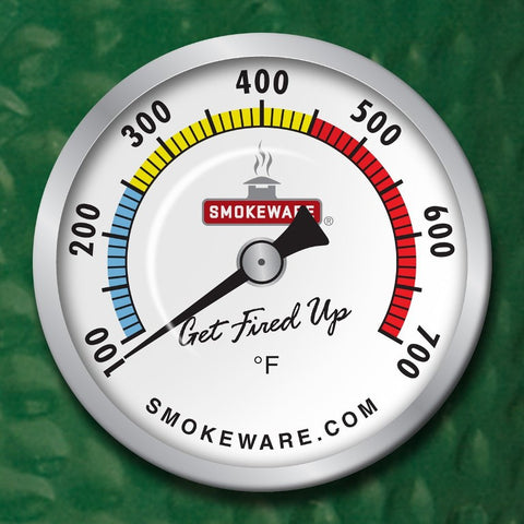 Smokeware Temperature Gauge-White ( Fits BGE & KJ) - BBQing.com