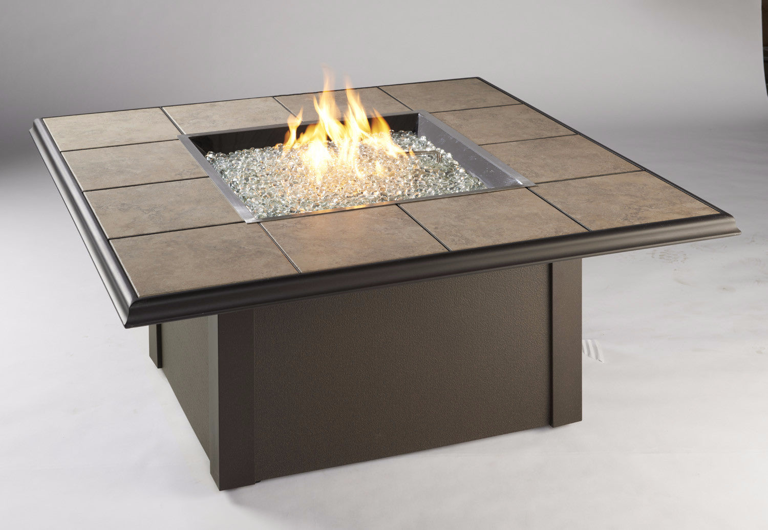Outdoor Greatroom Square Napa Valley Fire Pit Table Black Or Brown