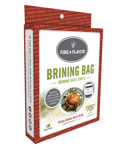 Fire & Flavor Turkey Brining Bag with Gusseted Bottom and Strong Zipper - BBQing.com