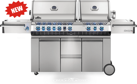 PRESTIGE PRO 825 WITH POWER SIDE BURNER AND INFRARED REAR AND BOTTOM BURNERS