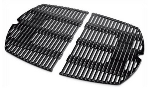 WEBER 7584 PORCELAIN CAST IRON COOKING GRATE (SET OF 2)