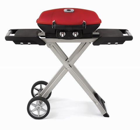TRAVELQ 285 AND SCISSOR CART WITH GRIDDLE - BBQing.com - 1