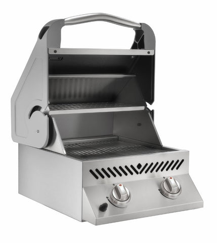 Infrared Slide-In Burner with Roll Top Lid - BBQing.com
