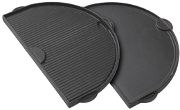 Primo Griddle Half Moon Cast Iron Oval XL (P778) - BBQing.com