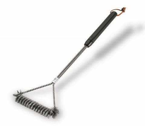 "WEBER 21"" THREE-SIDED GRILL BRUSH - BBQing.com"