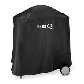 Weber Cover Portable ( Fits Q120 w/ Rolling Cart ) - BBQing.com