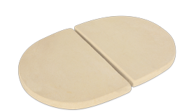 PRIMO CERAMIC DEFLECTOR PLATE SET (for Oval XL Cooker) - BBQing.com - 1