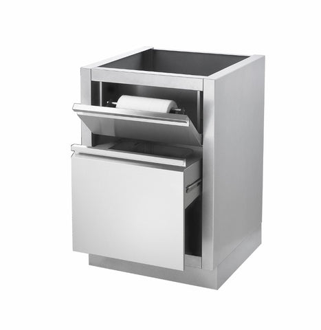 NAPOLEON OASIS WASTE DRAWER CABINET AND PAPER TOWEL HOLDER 2016 SILVER