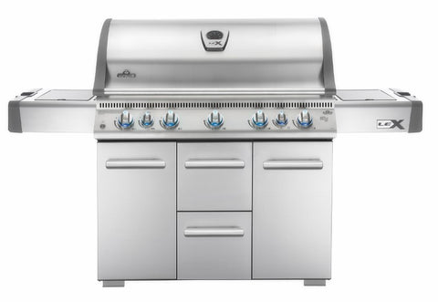 Napoleon LEX 730 WITH SIDE BURNER AND INFRARED BOTTOM & REAR BURNERS - BBQing.com - 1