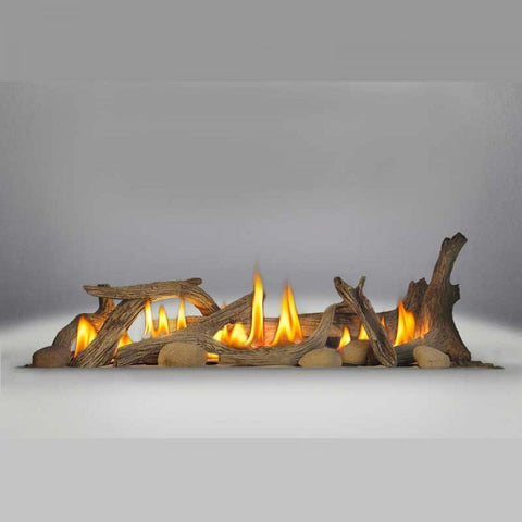 Napoleon DL45 Driftwood Log Set (includes log set & 6 river rocks) - BBQing.com
