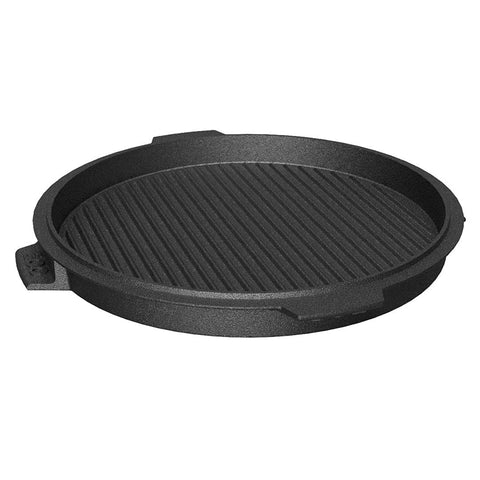Big Green Egg- Plancha Griddle – Dual-Sided Cast Iron, 10.5 inch (XXL,XL,LG)