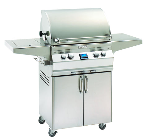Fire Magic AURORA A430s Freestanding Gas Grill , Digital Thermometer, Rotisserie - BBQing.com
