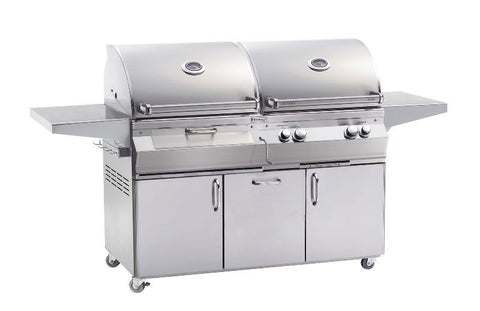 Fire Magic Grill A830s Dual Fuel Charcoal Gas Combol Grill With Rotisserie - BBQing.com