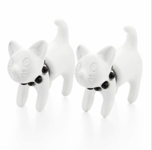 E25 Cute Cat Kitten Stud Earrings