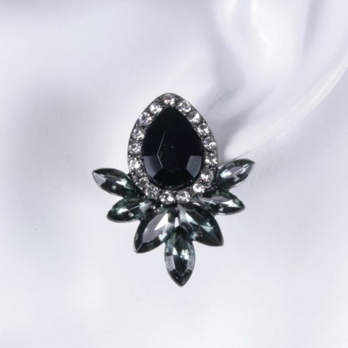 1920s Art Deco Style Crystal Glamour Stud Earrings