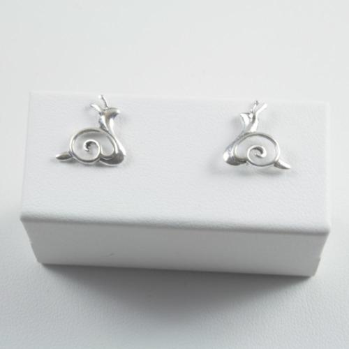 925 Sterling Silver Snail Stud Earrings