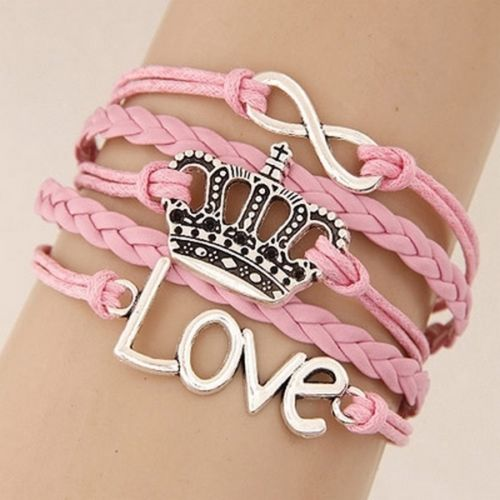 Faux Leather Retro Inspirational Message Charm Multi Layer Bracelets