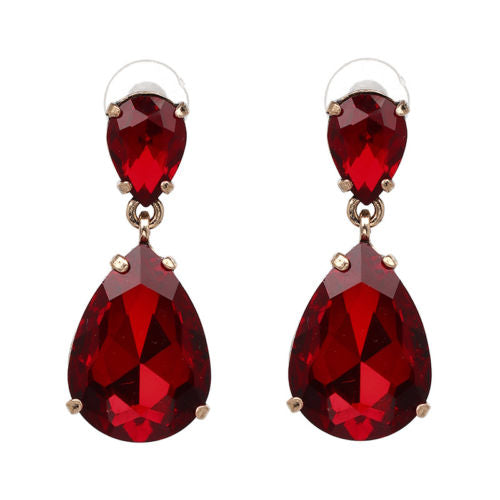 E12 Antoinette Crystal Dangle Vintage Style Statement Glamour Earrings