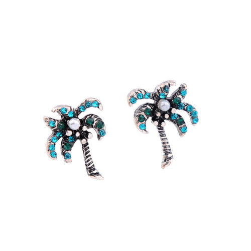A1 Holiday Party Palm Tree Small Stud Earrings
