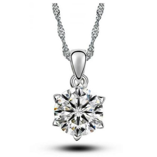 'SOPHIA' CRYSTAL SOLITAIRE NECKLACE