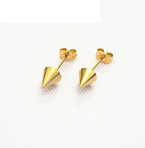 Dainty Spike Cone Pointy Punk Stud Earrings with Gift Pouch