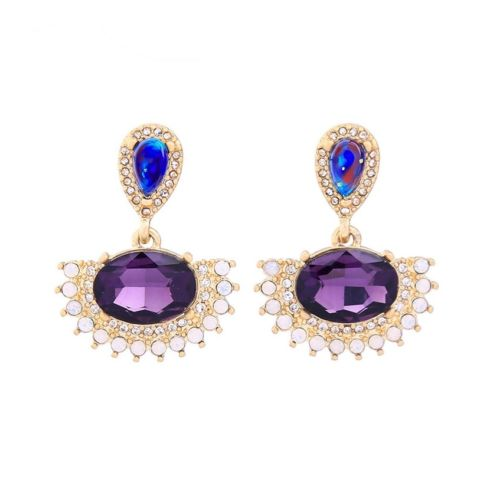 A1 Elegant Party Occasion Multi-coloured Crystal Glamour Earrings