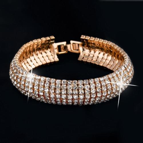 'Liz' Glamour Gold Plated Bracelet with Austrian Crystal