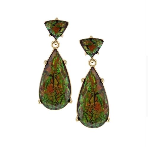 E14 Sarah Vintage Glamour Style Teardrop Dangle Stud Earrings with Gift Pouch