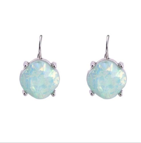 E4 Opalesque Shimmering Resin Stone Leverback Earrings