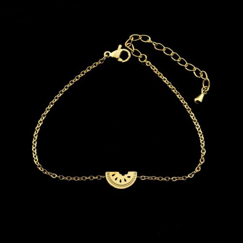B2 Gold Plated Watermelon Chain Bracelet in Gift Pouch