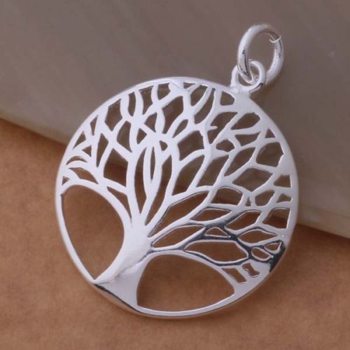 N5 925 Silver Plated Tree of Life Pendant Necklace