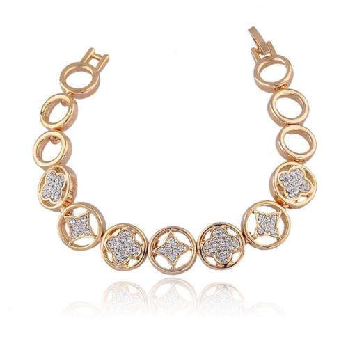 'Diana' Elegant Gold Plated Bracelet with Austrian Crystal