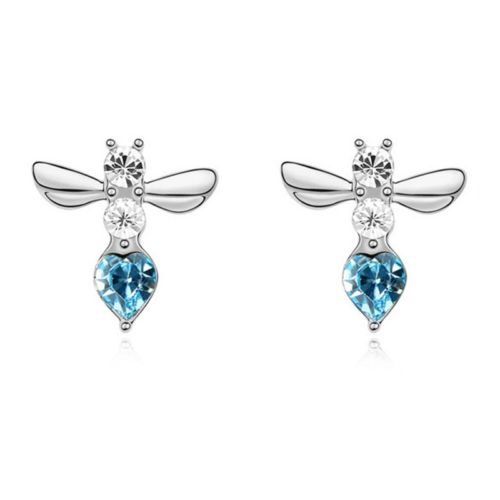 Austrian Crystal Dragonfly Stud Earrings