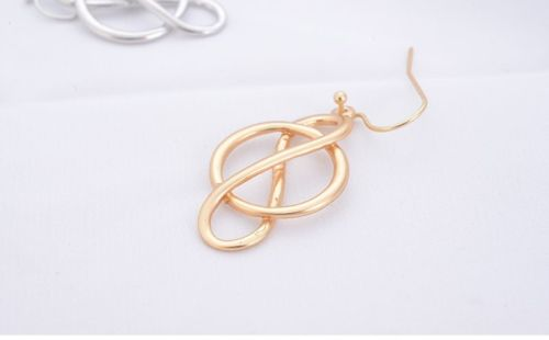 E2 Infinity Symbol Celtic Knot Dangle Hook Earrings