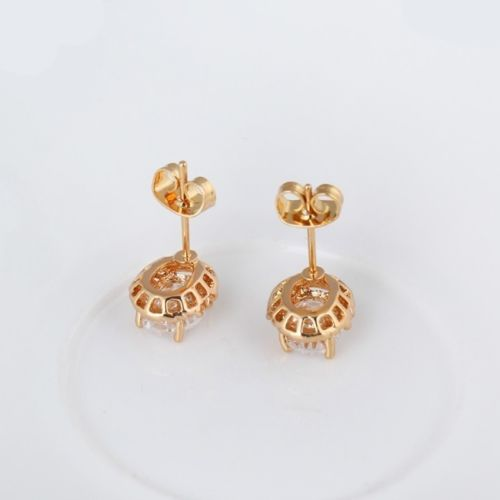 E10 Wedding, Bridal, Bridesmaids, Prom 18K Gold Plated Crystal Stud Earrings